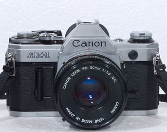 Canon AE-1  35mm Film Camera 50mm f1.8 Lens Student Outfit Photography Art Photo 35mm SLR