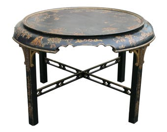 Georgian Style Japanned Low Table