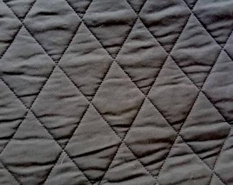 Panneau carré 50cmx50cm matelassé twill noir