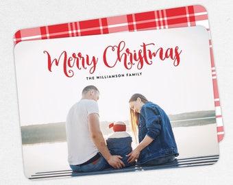 24 HOUR TURNAROUND, Family Christmas Cards, Photo Christmas Cards, Family Holiday Cards, Merry Christmas Cards, Plaid Christmas Cards, DIY