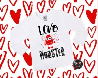Love Monster Shirt - Kids' Valentine Shirts - Cupid Monster Shirts - Cute Valentine Shirts - Funny Holiday Shirts - Kids' VDay Shirts