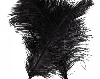 10pcs 12-14 Inch 30-35cm Natural Ostrich Feathers Party Wedding Decoration Black....Free Shipping in US!