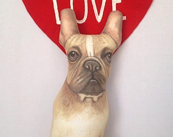 French Bulldog Pillow, French Bulldog Cushion, Dog Shape Pillows, Handmade Dog Pillows, French Bulldog hrow Pillow