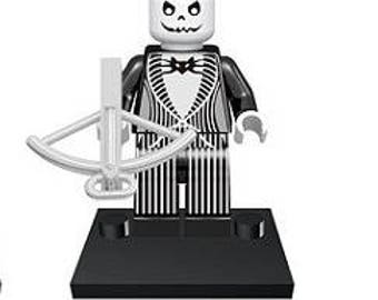 Jack Skellington Nightmare Before Christmas Custom Minifigure 100% Lego Compatible!