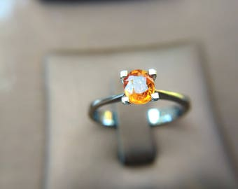 Natural Orange Sapphire with Silver 925