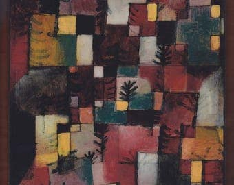 Redgreen and Violet-Yellow Rhythms (1920), Paul Klee.FREE SHIPPING