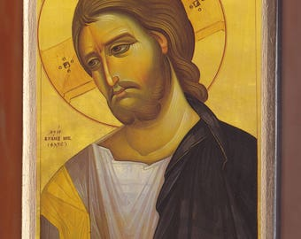 Jesus Christ, Bust. Vranos Nicolaos.Christian orthodox icon.FREE SHIPPING.