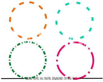 Tribal Circle frames svg / dxf / eps / png files. Digital download. Compatible with Cricut and Silhouette machines. Small commercial use ok.