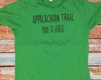 AT shirt appalachian trail t shirt maine to georgia custom shirt hiking shirt trail shirt gifts under 20