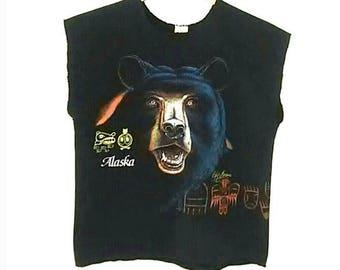 VINTAGE 80s Alaska Grizzly Bear Sweatshirt Sz M Best Selling Clothing Items 60s 70s 80s 90s
