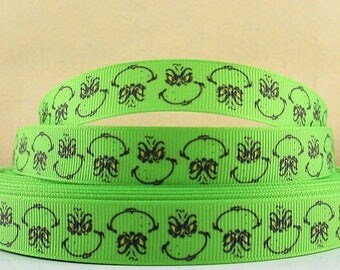 Grinch Grosgrain Ribbon 5 yards Party Supplies NEW**Instock