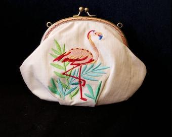 B530. Flamingo clutch bag.