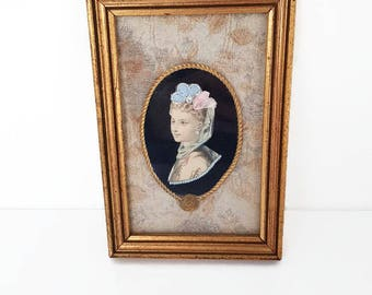 Vintage frame, handmade wall decor