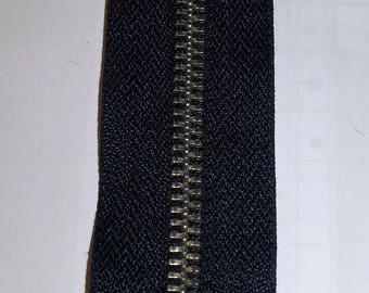 Zippered black jeans 12 cm