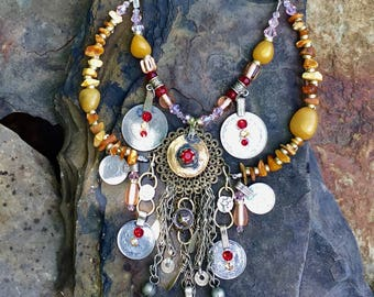 Blood and glory tribal necklace
