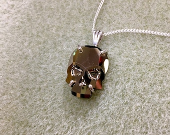 Skull Pendant made w/Swarovski Golden color crystal.