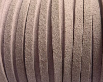 Set of 2 m Lavender 3 mm suede cord