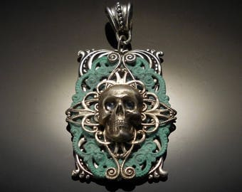 Game of Thrones Jewelry | Black Sails Jewelry | Silver Skull Necklace | Pirate Jewelry | Pirate Necklace | Skull Pendant | Dawn Santucci