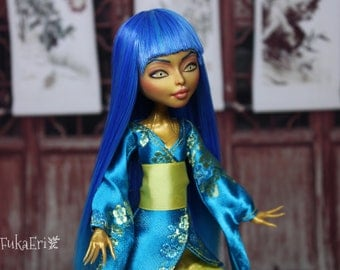Monster High Custom Repaint Art doll OOAK Jinafire Long
