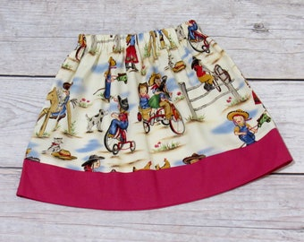Girl Cowgirl Skirt Size 1-8