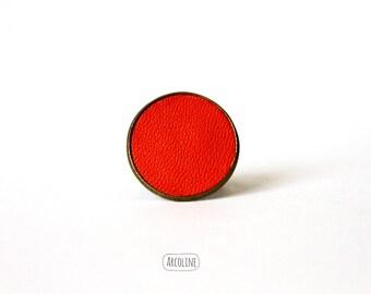 Ring 20 mm leather Orange ° °