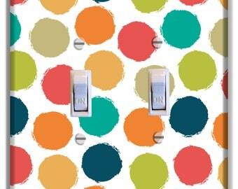 Dots Light Switch Plate Cover Girls Nursery Decor Pattern Print