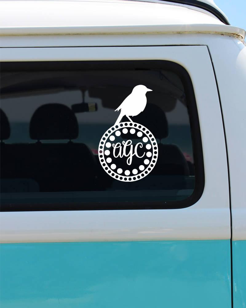Car Sticker Monogram Kamos Sticker - Monogram decal for car