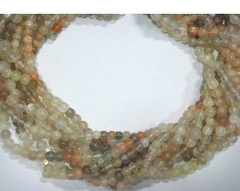 ON SALE 50% 50 Strands Wholesale Multicolored Moonstone Round beads 13.5 Inch Strand -  5mm Each Approx, WS047
