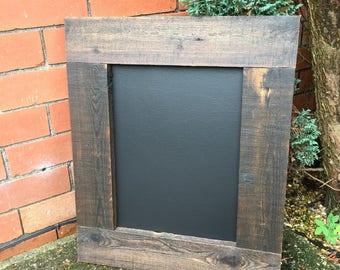 Dark Wooden Chalkboard Wedding Chalkboard - lots of detail in the frame Farmhouse Blackboard