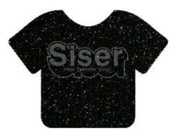 "NEW Color - Galaxy Black Glitter htv, 1 12x20"" Galaxy Black Siser Glitter HTV, Siser Glitter Heat Transfer Vinyl, Black Glitter HTV"