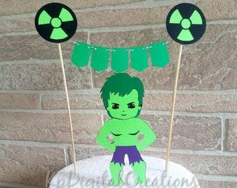 Hulk cake topper, Avengers cake topper, Superhero birthday, Superhero cake topper, hulk birthday party, hulk baby shower, hulk party decor