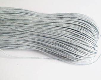 20 meters of thread waxed cotton gray 0.7 mm