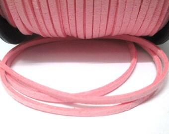 5 m look pink suede 3 mm suede cord