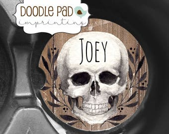 Coasters for Car, Skull Car Coaster, Personalized cupholder coaster