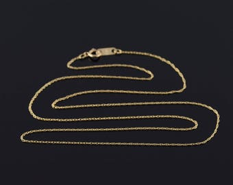 0.6mm Loose Cable Link Chain Necklace Gold