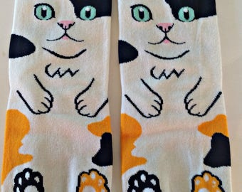 Art Socks, Cute Kittens,Here's Lookin at You,Cool Cotton Blend Socks,Funny,Ankle Socks,Artsy, Gift for Women, Birthday Gift