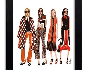 Michael Kors - Fashion Illustration Print Fashion Print Fashion Art Fashion Wall Art Fashion Poster Fashion Sketch Art Print
