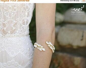 Bridal Bracelet, Swarovski Bracelet, Rhinestones Bracelet, Bridal Jewelry, Wedding Crystal Bracelet, Bridal Crystal Bracelet, Arm Cuff