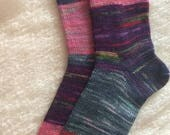 Wool socks,  Hand Made Wool Socks, Hand Cranked Wool Socks, Boot Socks, Women's Wool Socks, Teen Wool Socks, Boy's  Wool  Socks