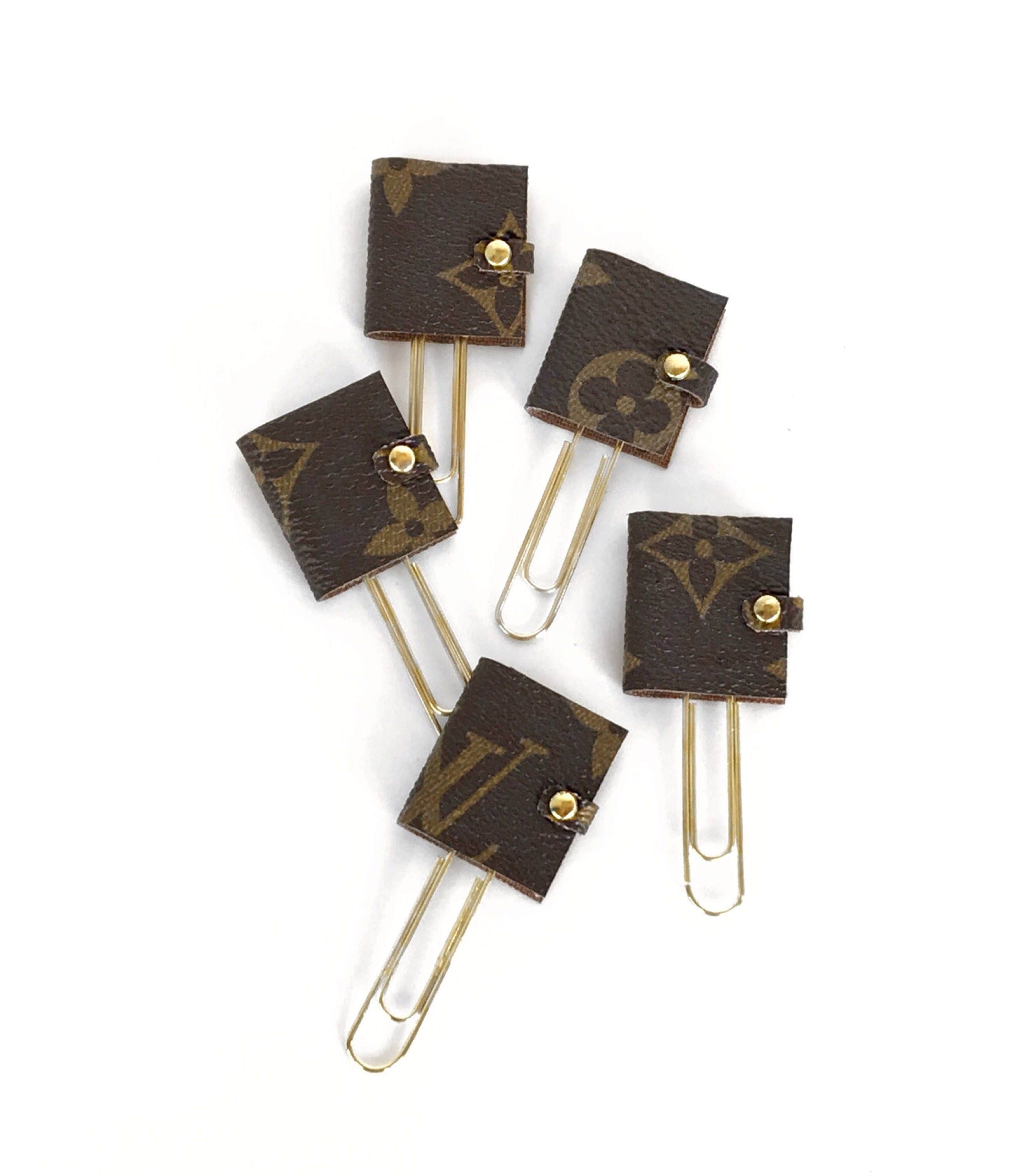 Louis Vuitton Planner Paper Clips With Authentic Upcycled Canvas  Mini  Agenda