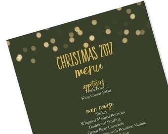 Christmas menu etsy printable christmas 2017 menu template green bokeh lights christmas menu microsoft word template pronofoot35fo Images