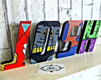 Hand-Painted Superhero Letters