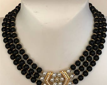 Lanvin necklace vintage Lanvin vintage glass pearl necklace glass beads