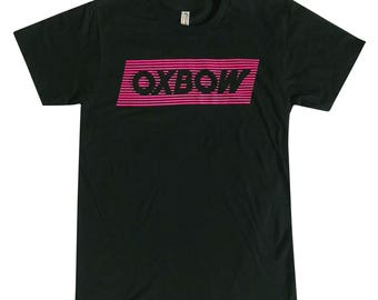 Pink on Black Oxbow Crossfade Logo T-Shirt
