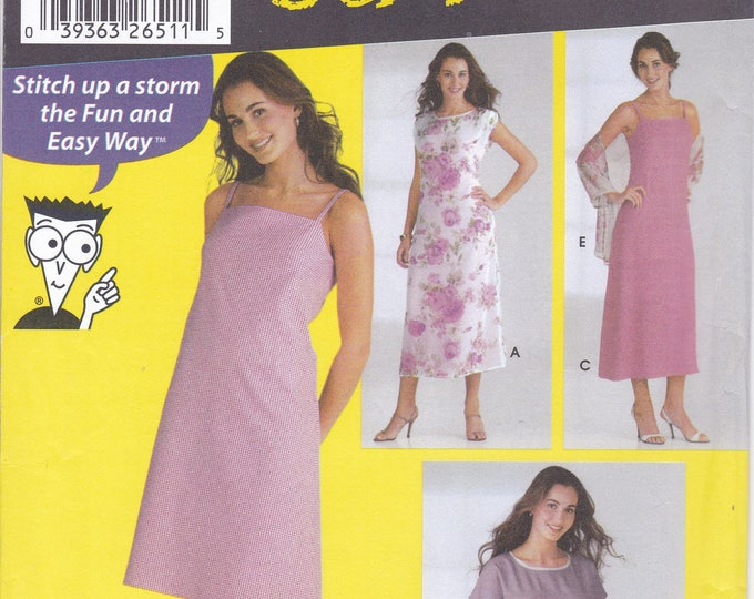FREE US SHIP 5592 Sewing Pattern Size 8 10 12 14 Bust 31.5 32.5 34 36 Sewing for Dummies Easy Dress Pullover