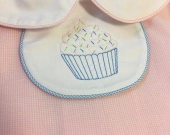 Cupcake beanstitch button-on tab