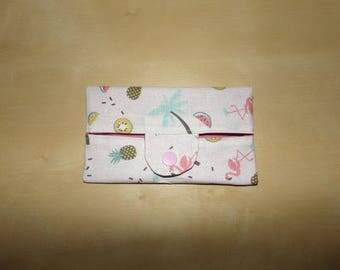 Flamingo pattern handkerchief case