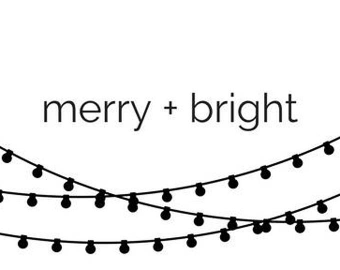 Christmas Card | Minimalist Christmas Card | Modern Christmas Card| Merry & Bright