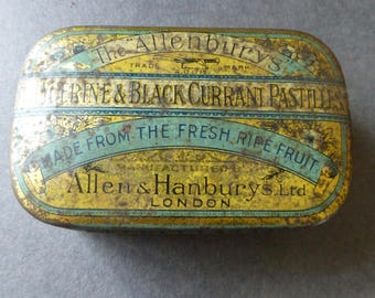 Allenburys Pasteliles Tin Containing an Early Valet Auto Strop Razor, Spare Blade and Strop 1914