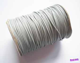 2 metres of 1.5 mm grey waxed polyester cord